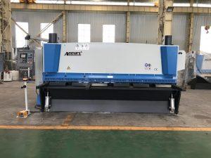 Hydraulische guillotineschaar 3200 mm x 8 mm met steun voor pneumatisch materiaal