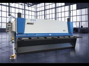 Hydraulische guillotineschaar MS8 8x4000mm met duitsland ELGO P40T touchscreen CNC