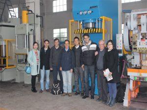 De delegatie van Peru kwam onze fabriek bezoeken en machines kopen