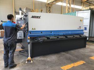 hydraulische plaat ijzeren plaat scherende machine, NC plaatwerk shearing machine